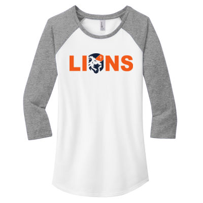 District - Women's Fitted Very Important Tee 3/4-Sleeve Raglan - Screen Print Logo Thumbnail