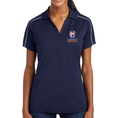 Sport-Tek - Ladies Micropique Sport-Wick Piped Polo - Embroidered Logo Thumbnail